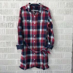 NWT Gap plaid shirt dress flannel button down